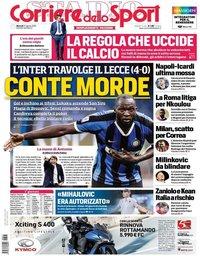 capa Corriere dello Sport de 27 agosto 2019