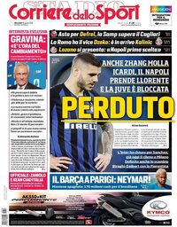 capa Corriere dello Sport de 28 agosto 2019