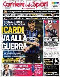 capa Corriere dello Sport de 29 agosto 2019