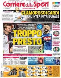 capa Corriere dello Sport de 31 agosto 2019