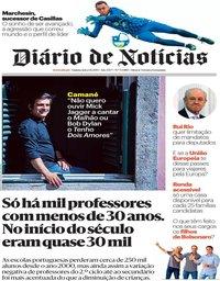 capa Diário de Notícias de 1 agosto 2019