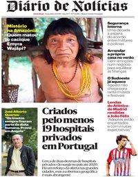 capa Diário de Notícias de 2 agosto 2019