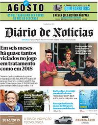 capa Diário de Notícias de 3 agosto 2019