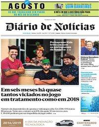 capa Diário de Notícias de 4 agosto 2019
