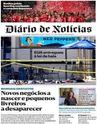 capa Diário de Notícias de 5 agosto 2019