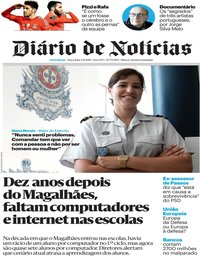 capa Diário de Notícias de 6 agosto 2019
