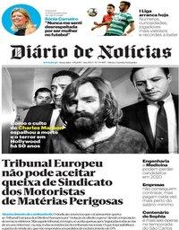 capa Diário de Notícias de 9 agosto 2019