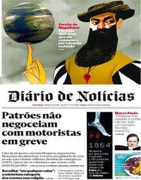 capa Diário de Notícias de 10 agosto 2019