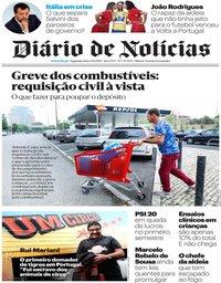 capa Diário de Notícias de 12 agosto 2019