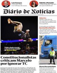 capa Diário de Notícias de 13 agosto 2019