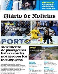 capa Diário de Notícias de 14 agosto 2019