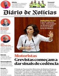 capa Diário de Notícias de 15 agosto 2019