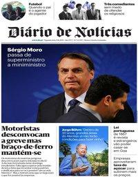 capa Diário de Notícias de 19 agosto 2019