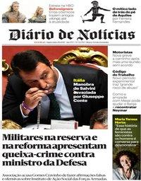 capa Diário de Notícias de 21 agosto 2019