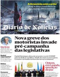 capa Diário de Notícias de 22 agosto 2019