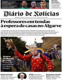 capa Diário de Notícias de 29 agosto 2019