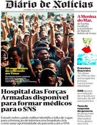 capa Diário de Notícias de 30 agosto 2019