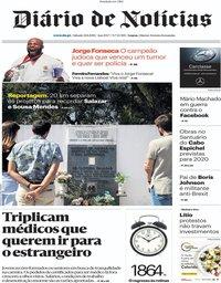 capa Diário de Notícias de 31 agosto 2019