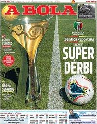 capa Jornal A Bola de 4 agosto 2019