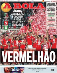 capa Jornal A Bola de 5 agosto 2019