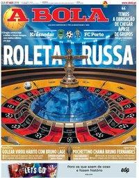 capa Jornal A Bola de 7 agosto 2019