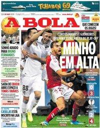 capa Jornal A Bola de 9 agosto 2019