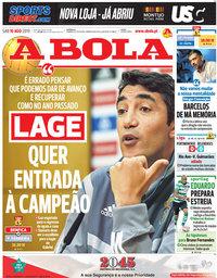 capa Jornal A Bola de 10 agosto 2019