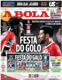 capa Jornal A Bola de 11 agosto 2019
