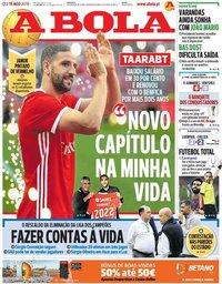 capa Jornal A Bola de 15 agosto 2019