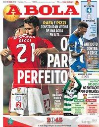 capa Jornal A Bola de 18 agosto 2019
