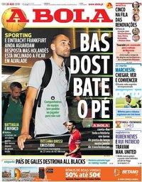 capa Jornal A Bola de 20 agosto 2019