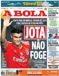 capa Jornal A Bola de 22 agosto 2019