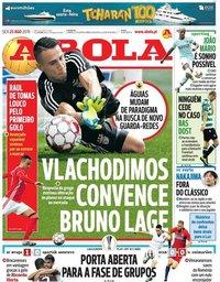 capa Jornal A Bola de 23 agosto 2019
