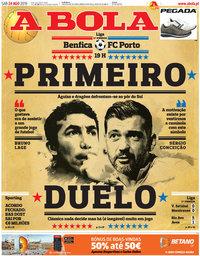 capa Jornal A Bola de 24 agosto 2019