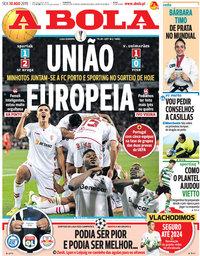 capa Jornal A Bola de 30 agosto 2019