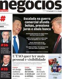 capa Jornal de Negócios de 6 agosto 2019