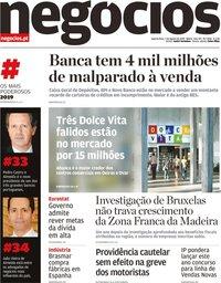 capa Jornal de Negócios de 7 agosto 2019