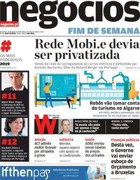 capa Jornal de Negócios de 23 agosto 2019