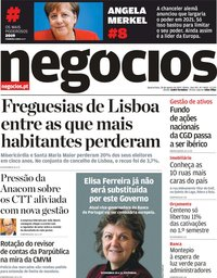 capa Jornal de Negócios de 28 agosto 2019