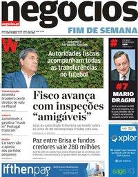 capa Jornal de Negócios de 30 agosto 2019