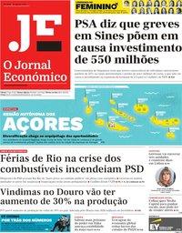 capa Jornal Económico de 16 agosto 2019