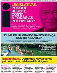 capa Jornal i de 6 agosto 2019