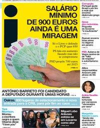 capa Jornal i de 7 agosto 2019