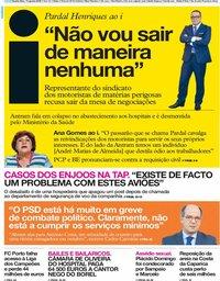capa Jornal i de 14 agosto 2019