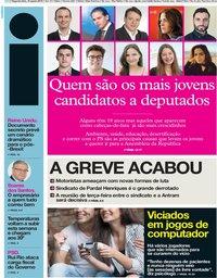 capa Jornal i de 19 agosto 2019
