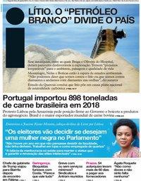 capa Jornal i de 26 agosto 2019