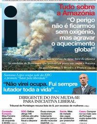 capa Jornal i de 28 agosto 2019