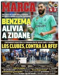 capa Jornal Marca de 1 agosto 2019