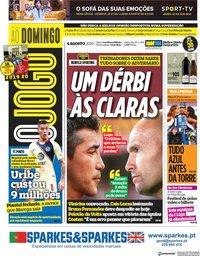 capa Jornal O Jogo de 4 agosto 2019