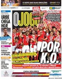 capa Jornal O Jogo de 5 agosto 2019